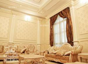 Sitting Room Villa Design Abu Dhabi