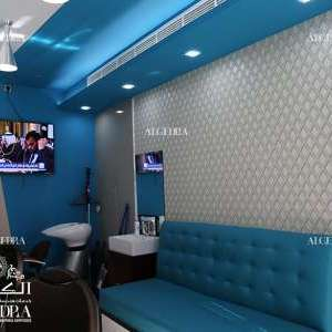 Gents Salon Wall Design