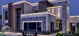 Villa exterior design in Abu Dhabi