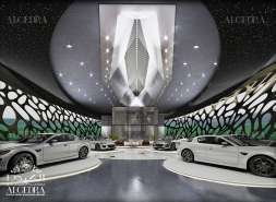 Futuristic Car Showroom Design