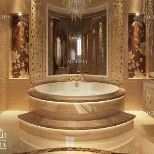 Golden Bathroom Interior