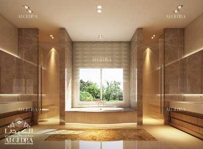 Luxury bathroom for villa
