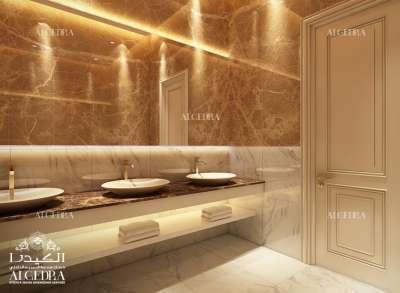 Golden Bathroom Interior