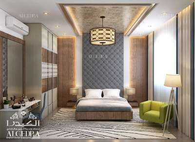 Modern bedroom design in Dubai