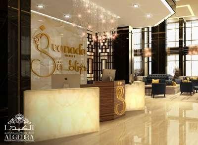 Commercial interior hotel design