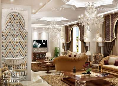 elegant family sitting room decoration