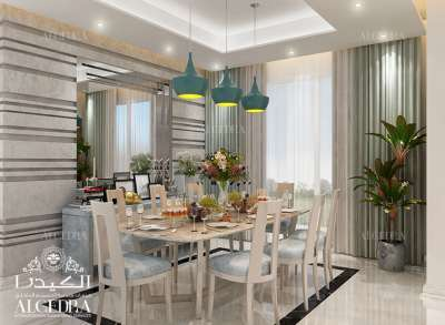 Family Dining Room Interior Design Dubai