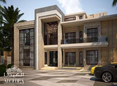 villa exterior design 3D