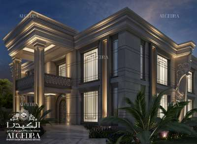 Villa exterior lighting