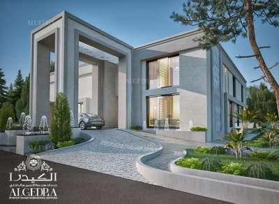 Modern villa design 3D plan