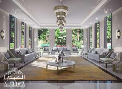 تصميم غرف جلوس عائلية فاخرة