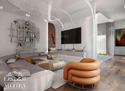 تصميم حديث فاخر لغرف الجلوس العائلية