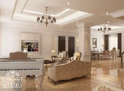 تصميم قاعة العائلة للفيلا