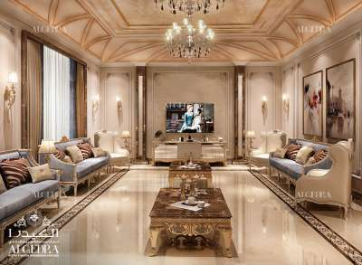 تصميم غرفة عائلية مزينة