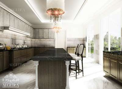 تصميم كلاسيكي للمطبخ
