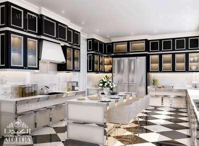 التصميم الداخلي لمطبخ فيلا