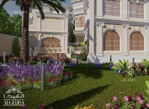 beautiful landscape design for Palaces