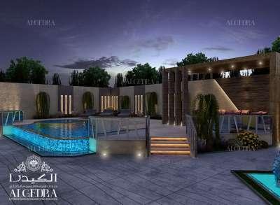 تصميم حديقة سكنية في دبي