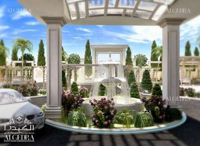 luxury landscape design for Palace