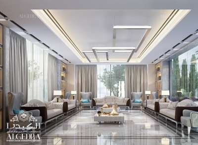 luxury interior design for Majlis in Dubai