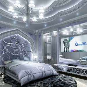 stylish bedroom interior