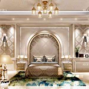 Gold theme bedroom design