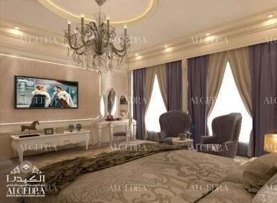 Gold theme bedroom design