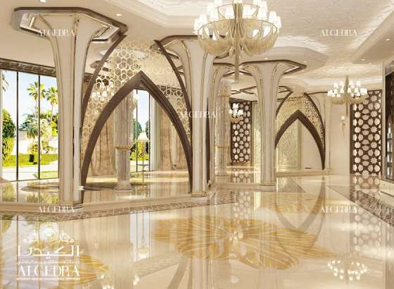 Luxury villas design interior design consultants in dubai for Villa lobby interior design