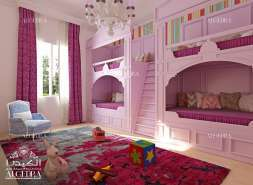 Colorful baby bedroom design by Algedra