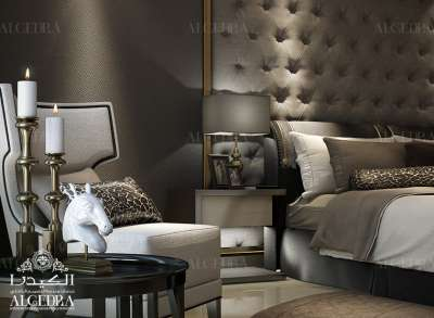 Modern bedroom interior design Abu Dhabi
