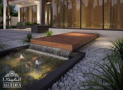 تصميم المناظر الطبيعية من جانب Algedra الداخلية