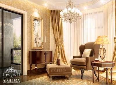 تصميم جميل لغرفة الجلوس العائلية