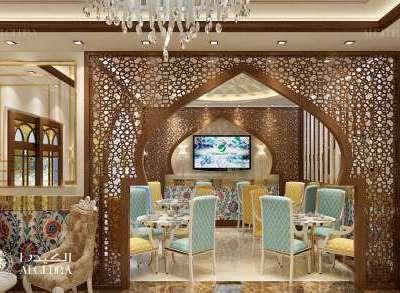تصميم داخلي مطاعم بسيط