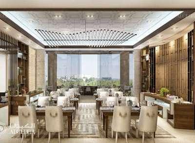 أفكار تصميم جدران مطعم
