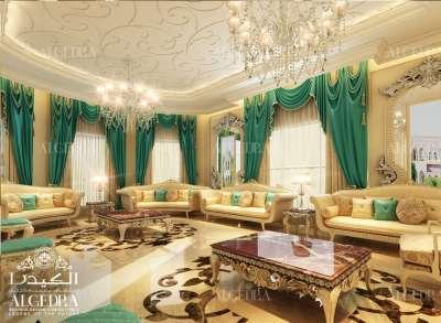 Majlis Design with Green Drapery