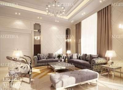 غرفة معيشة عائلية حديثة