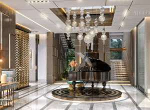 Palace entrance interior design
