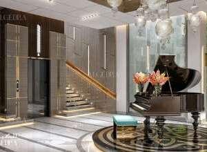 Palace elegant entrance interior design