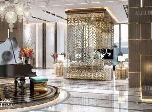 Palace entrance interior design Dubai