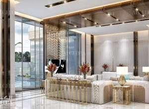 Palace elegant living room interior design Dubai