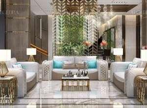 Palace elegant living room interior design