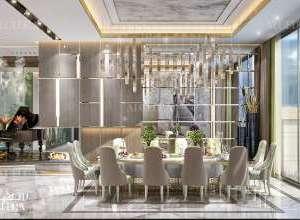 Palace elegant dining room interior design