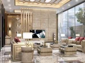 Palace elegant living room interior design UAE