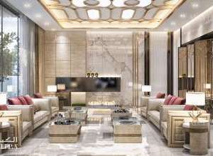 Palace living room interior design UAE