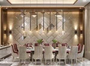 Palace beautiful dining room interior design UAE