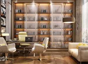 تصميم داخلي غرفة مكتب خاص قصر