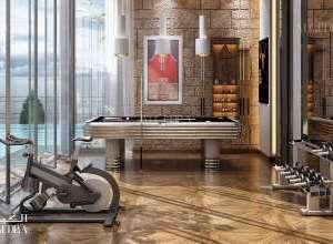 Palace workout room interior design
