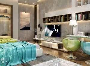 Palace nice twin bedroom interior design