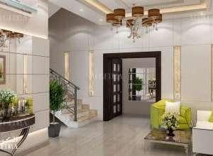 تصميم داخلي مدخل فيلا حديثة دبي