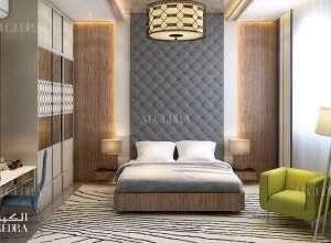 تصميم داخلي غرفة نوم فيلا حديثة جميلة